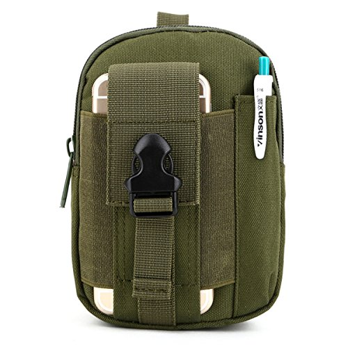 U-volte Nylon Outdoor Sport Tactical Molle EDC Custodia Smart per cellulare a forma di borsetta, Marsupio