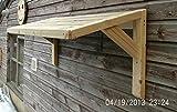 Timber Front Door Canopy Porch Bespoke Hand Made Porch Light Weight (120cm(L) x50cm(H) x50cm(D))