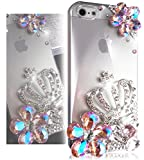 "Bling iPhone 5s Case, Bling iPhone 5 Case, TEAM LUXURY® 3D Swarovski Crystal Pink AB Color Crown Ultra Hybrid Case cover for Iphone 5 5S 5G [5th Generation] Not for iphone 6 case, air (100% Handcrafted by TEAM LUXURY® in USA) + FREE ""TL Premium Screen Guard"" Reviews"