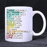 Positive and Optimistic Attitude Ceramic White Mug,Funny Quotes Mugs