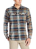 Columbia Camisa Hombre Silver Ridge Flannel Shirt (Azul / Marrón / Blanco)