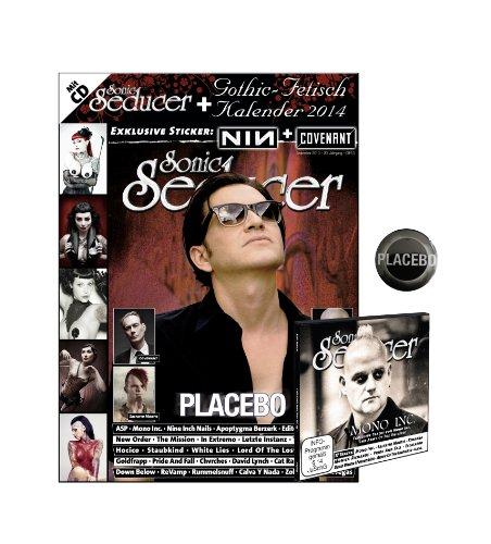 Sonic Seducer 09-13 ltd. Edition + Placebo Button, inkl. Gothic-Fetisch Kalender 2014 im Großformat + CD mit über 75 Minuten Spielzeit, Bands: ASP, Editors, Mono Inc. u.v.m. + 2 exkl. Sticker