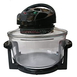 Jet Black Andrew James halogen oven