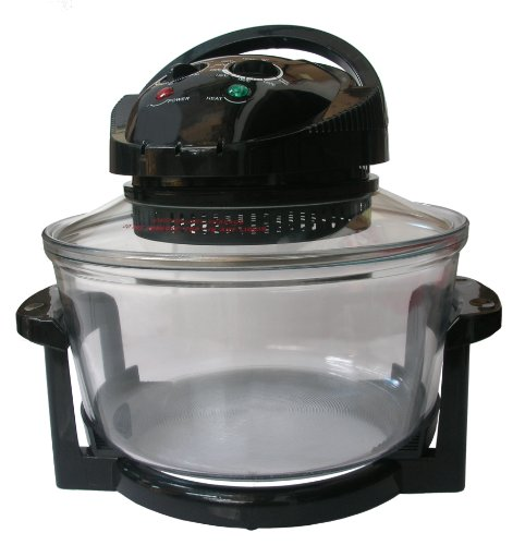 Andrew James 12 LTR Black Premium Halogen Oven Cooker