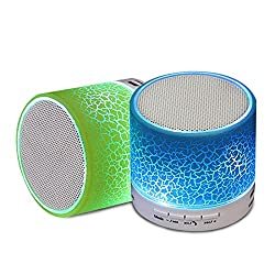 Zync C22 COMPATIBLE Mini Bluetooth Wireless Speaker (S10)/Portable Audio Player Play audio from TF card and Auxiliary input - PACK OF 2 SPEAKERS