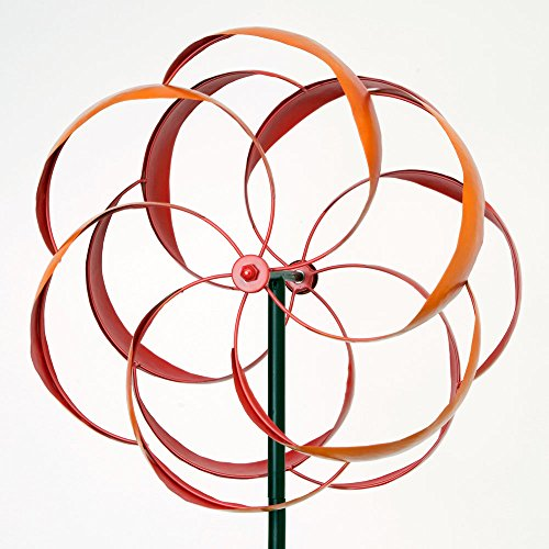 Bits-and-Pieces-Flower-Wind-Spinner-Magnificent-Weather-Resistant-Metal-Beautiful-Outdoor-Lawn-and-Garden-Dcor