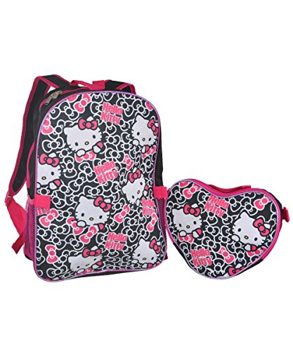 "Hello Kitty ""Bow Medley"" Backpack with Lunchbox - black/pink, one size - 1"