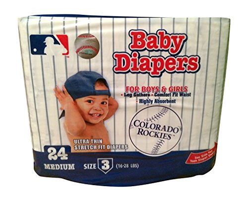 MLB Diapers Colorado Rockies (Size 3 16-28Lbs)