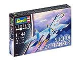 Revell - 03948 - Maquette - avion de chasse Su-27 Flanker - Échelle 1/144 - 48 pièces...