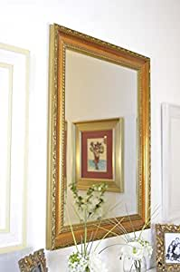 Classic Antique Designed Gold Wall Mirror 2ft8 x 2ft (81cm x 61cm)