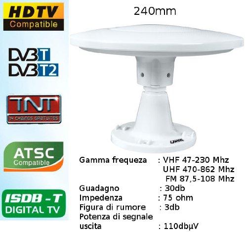 Lampa 39099 Antenna TV Omnidirezionale, 240 mm