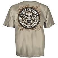 Chris Kyle Frog Foundation Patriot Patch USA Logo T-Shirt