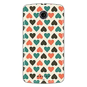 Mozine Blue Love Pattern Printed Mobile Back Cover For Google Nexus 6