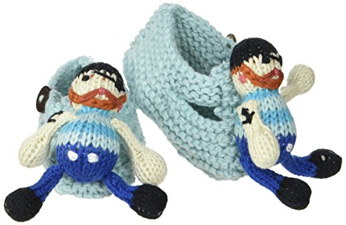 Finn + Emma Organic Cotton Baby Boy Rattle Booties - Jack the Sailor - 1