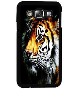 ColourCraft Tiger Look Design Back Case Cover for SAMSUNG GALAXY E5