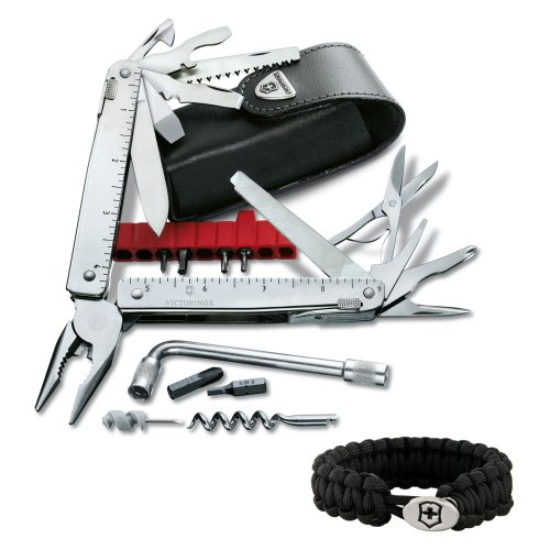 Victorinox Swiss Army Swisstool CS Plus Multi Tool - 53946 w/ Paracord Bracelet (Swiss Tool Cs compare prices)