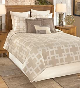 Park B. Smith Arcadia Queen 9-Piece Comforter Set, Natural/Linen