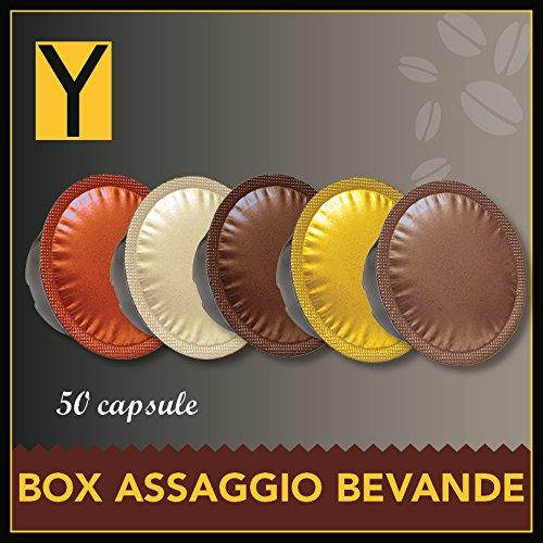 50 CAPSULE LAVAZZA A MODO MIO compatibili - BOX BEVANDE: Ginseng, orzo, tè limone, mocaccino, tisana frutti di bosco oppure tisana allo zenzero