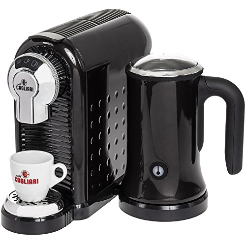 Best Price! Caffe Cagliari Carina Italian Coffee Espresso Machine w/ Milk Frother (Black)