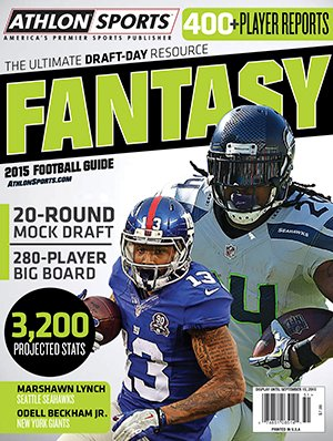 Athlon Sports 2015 Fantasy Football NFL Pro Magazine Preview- Odell Beckham Jr & Marshawn Lynch Cover