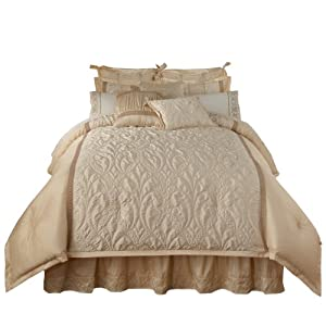Amazon.com: Veratex Spumante Queen 4-Piece Comforter Set, Cream ...
