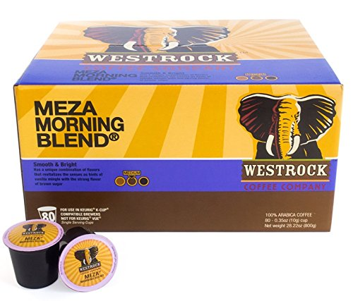 Westrock Coffee Company Meza Morning Blend Best Medium Roast Gourmet Single Serve Cups, 80 Count (Brazilian Can Opener compare prices)