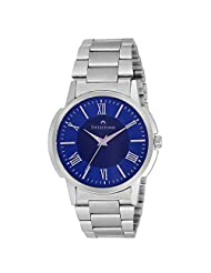 Swisstone Blue Dial Stainless Steel Chain Analog Watch For Men/Boys- ST-GR019-BLU-CH