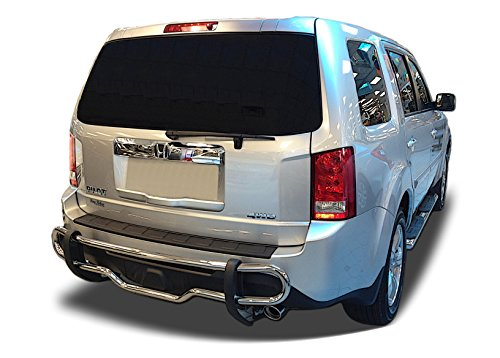 Broadfeet Rear Bumper Guard for Honda Pilot - 2009 to 2015 - Stainless Steel Double Pipe (Honda Pilot Rear Bumper Guard compare prices)