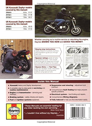 Kawasaki ZR550 and 750 Zephyr Fours (90-97) Service and Repair Manual (Haynes Service and Repair Manuals)