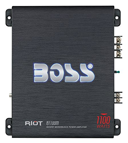 BOSS AUDIO R1100M Riot 1100-Watt Monoblock, Class A/B 2 to 8 Ohm Stable Monoblock Amplifier with Remote Subwoofer Level Control (S10 Blazer Performance Parts compare prices)