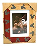 Disney World Mickey Two-Tone Wood & Metal Icon Inset 5x7 Photo Picture Frame