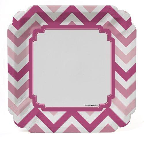 Chevron Pink - Dinner Plates