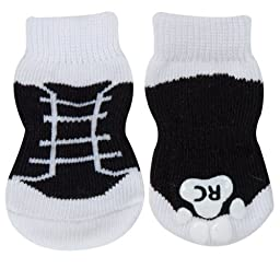 RC Pet Products PAWks Dog Socks, X-Large, Black Sneakers
