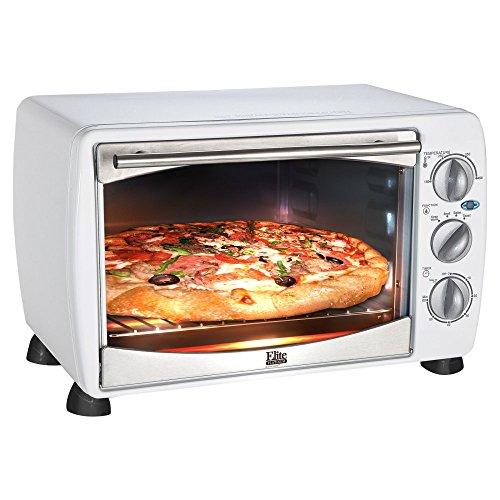 Elite Platinum ETO-180W Maxi-Matic 6-Slice Toaster Oven Broiler, White (Toaster Oven Broiler White compare prices)
