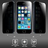 Amzer 97066 Kristal Privacy Tempered Glass HD Screen Protector For IPhone 5C, IPhone 5S, IPhone 5