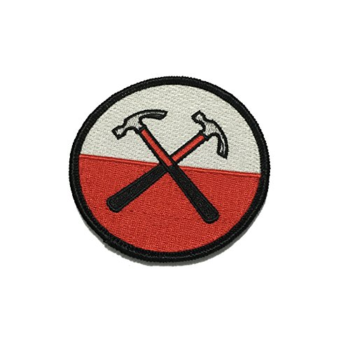Pink floyd patch hammer Jackget Applique Embroidered Sew Iron On Patch - Clothing Shirts Pants Novelty Iron on with heat or sew on - Decorate Bags Caps Towels - Safe Non-toxic - 100%