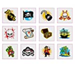 Pirate Temporary Tattoos Pack of 24 -...