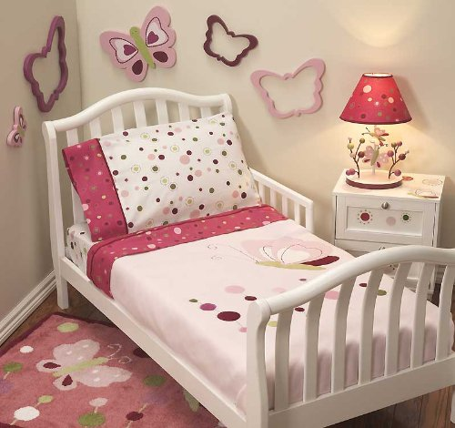 Raspberry Swirl 4 Piece Toddler Bedding Set by Lambs & Ivy