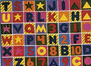 "LA Rug Numbers & Letters Rug 5'3""x7'6"" by LA Rug Co"