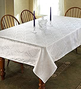 European damask design tablecloth size 70 w for Tablecloth 52 x 120