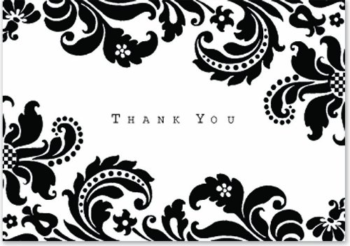 Thank You Card Template » Black And White Thank You Card Template ...