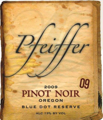 2009 Pfeiffer Winery Blue Dot Pinot Noir, Willamette Valley 750 Ml