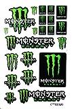 モンスターエナジー ステッカー (MONSTER ENERGY Sticker エンブレム Green & White & Black) L サイズ (グリーン&白&黒)