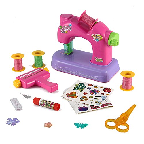 Deluxe-Create-Your-Own-Scrapbook-Toy-Sewing-Machine-Activity-Center