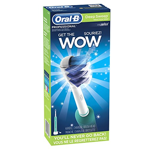 Oral-B Professional Deep Sweep Triaction 1000 Rechargeable Electric Toothbrush, 1 Count (Packaging May Vary)