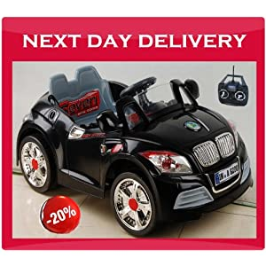 KIDS RIDE ON ELECTRIC RECHARGEABLE BMW COUPE LOOK BLACK COLOR CAR, AGE 2-7 YRS