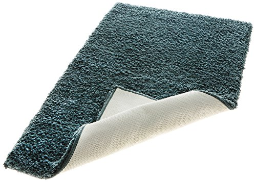 Spaces Spaces Exotica Polyester Large Bath Rug  Shadow Teal