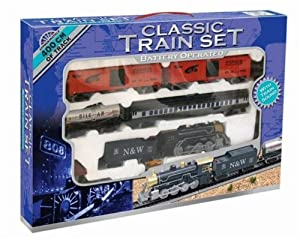 Large Classic Train Set *400cm Track* Battery Operated with Train Sounds GIFT