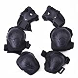 Zcargel Kids Roller Blading Wrist Elbow Knee Pads Blades Guard 6 PCS Set