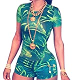 Icibgoods Womens Green Sexy Party Club Jumpersuits Shorts Rompers